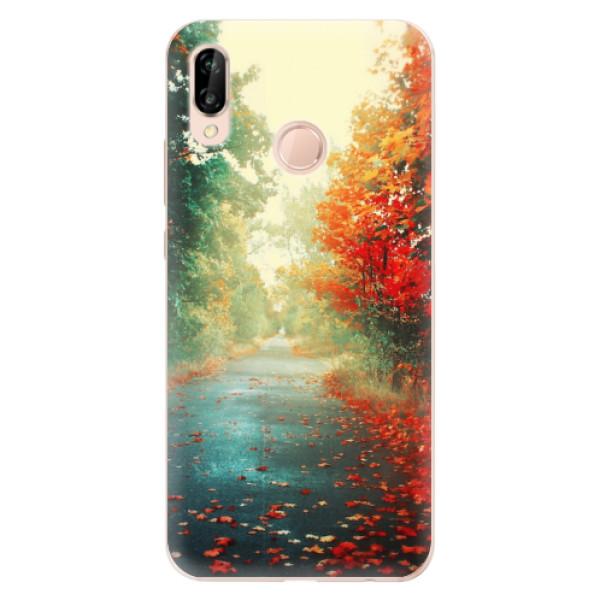 Odolné silikonové pouzdro iSaprio - Autumn 03 - Huawei P20 Lite