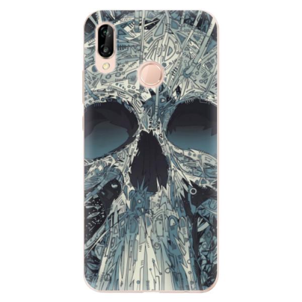 Odolné silikonové pouzdro iSaprio - Abstract Skull - Huawei P20 Lite