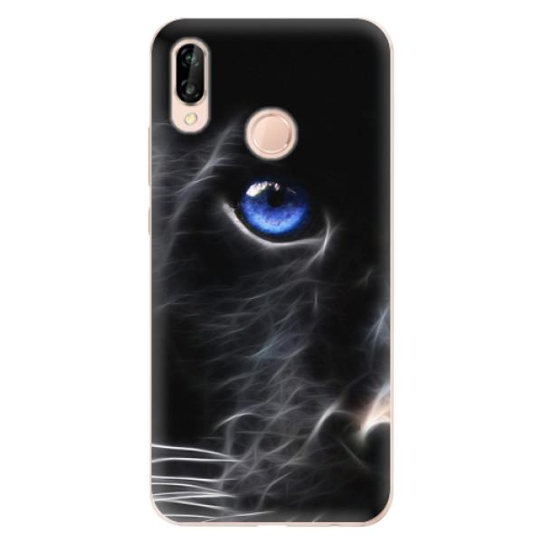 Odolné silikonové pouzdro iSaprio - Black Puma - Huawei P20 Lite