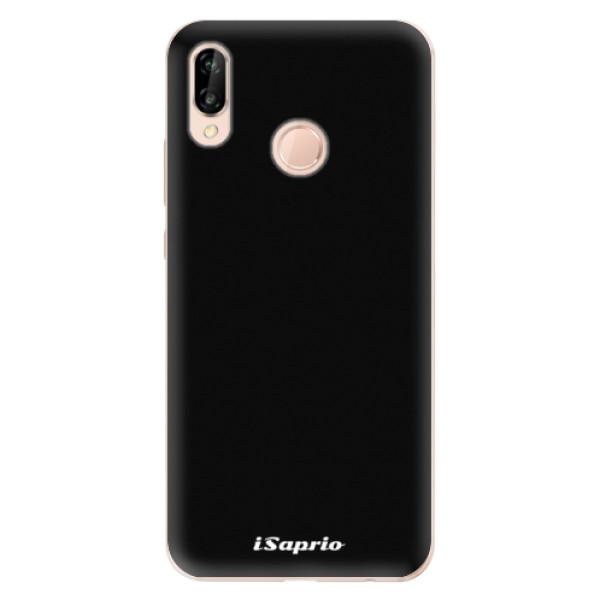 Odolné silikonové pouzdro iSaprio - 4Pure - černý - Huawei P20 Lite