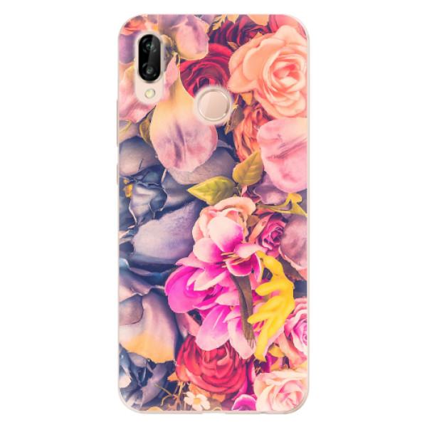 Odolné silikonové pouzdro iSaprio - Beauty Flowers - Huawei P20 Lite