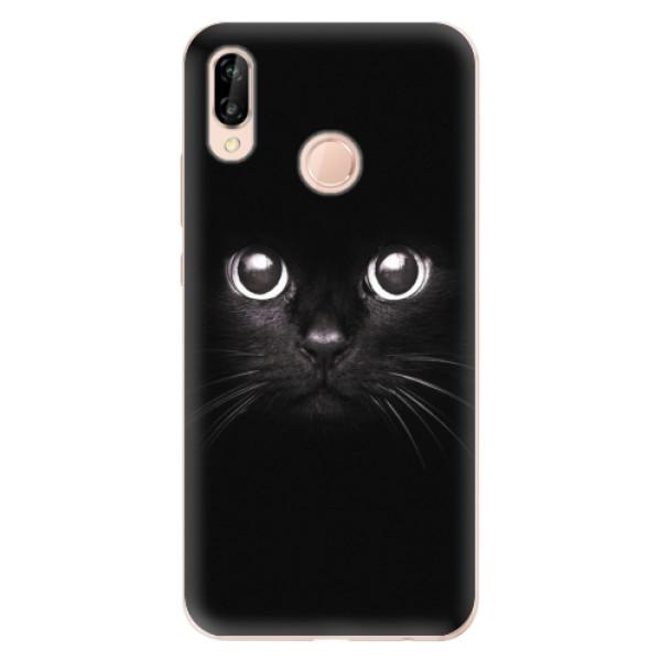Odolné silikonové pouzdro iSaprio - Black Cat - Huawei P20 Lite