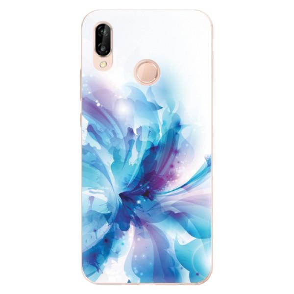 Odolné silikonové pouzdro iSaprio - Abstract Flower - Huawei P20 Lite