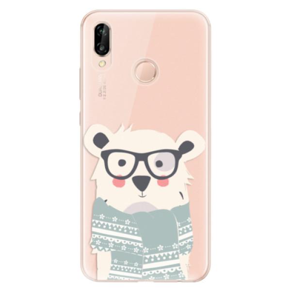 Odolné silikonové pouzdro iSaprio - Bear with Scarf - Huawei P20 Lite