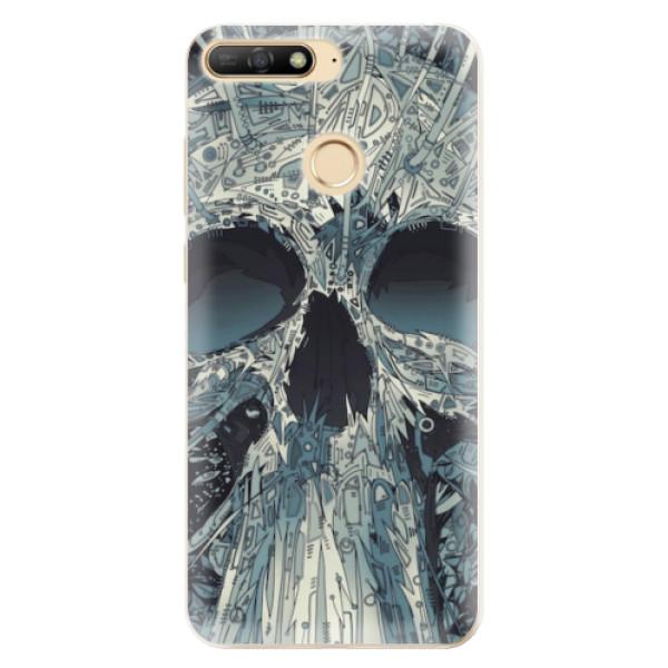 Odolné silikonové pouzdro iSaprio - Abstract Skull - Huawei Y6 Prime 2018