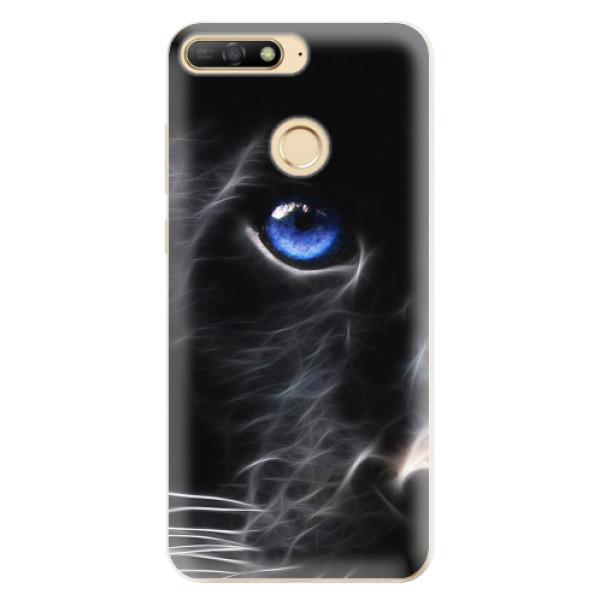 Odolné silikonové pouzdro iSaprio - Black Puma - Huawei Y6 Prime 2018