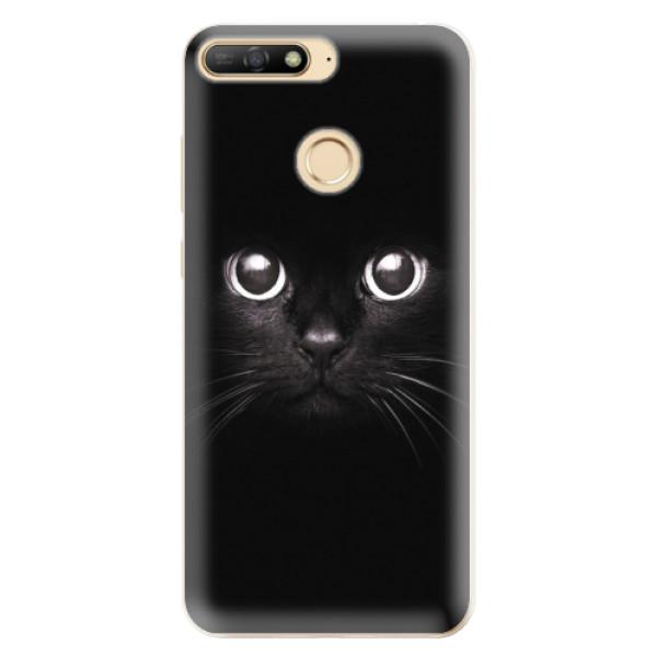 Odolné silikonové pouzdro iSaprio - Black Cat - Huawei Y6 Prime 2018