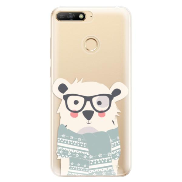 Odolné silikonové pouzdro iSaprio - Bear with Scarf - Huawei Y6 Prime 2018