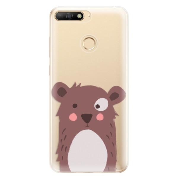 Odolné silikonové pouzdro iSaprio - Brown Bear - Huawei Y6 Prime 2018