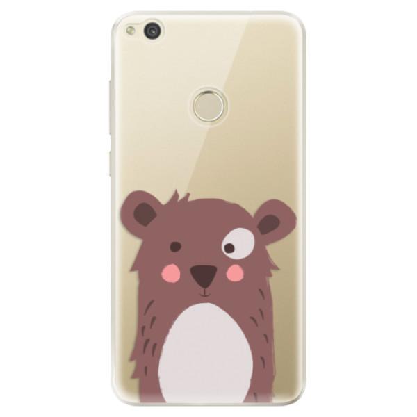 Odolné silikonové pouzdro iSaprio - Brown Bear - Huawei P9 Lite 2017