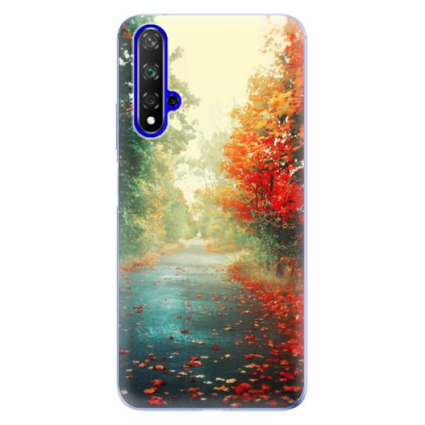 Odolné silikonové pouzdro iSaprio - Autumn 03 - Huawei Honor 20