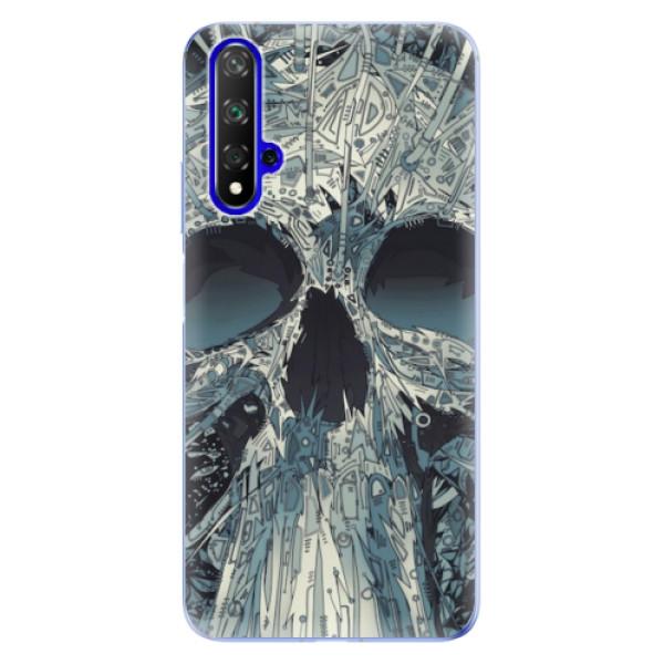 Odolné silikonové pouzdro iSaprio - Abstract Skull - Huawei Honor 20