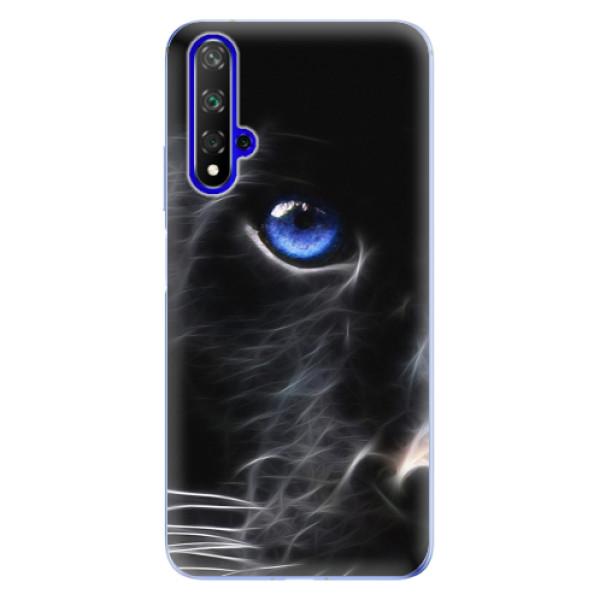 Odolné silikonové pouzdro iSaprio - Black Puma - Huawei Honor 20
