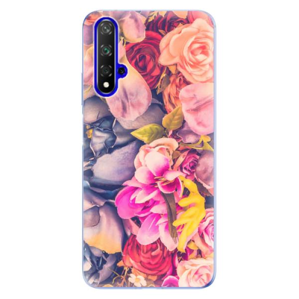 Odolné silikonové pouzdro iSaprio - Beauty Flowers - Huawei Honor 20