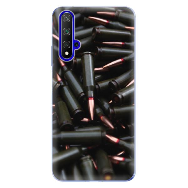 Odolné silikonové pouzdro iSaprio - Black Bullet - Huawei Honor 20