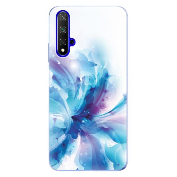 Odolné silikonové pouzdro iSaprio - Abstract Flower - Huawei Honor 20