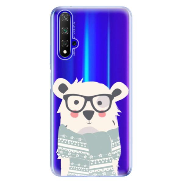 Odolné silikonové pouzdro iSaprio - Bear with Scarf - Huawei Honor 20