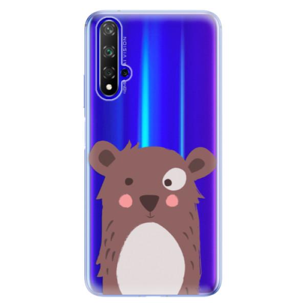 Odolné silikonové pouzdro iSaprio - Brown Bear - Huawei Honor 20