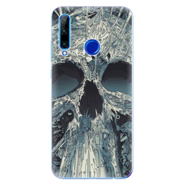 Odolné silikonové pouzdro iSaprio - Abstract Skull - Huawei Honor 20 Lite