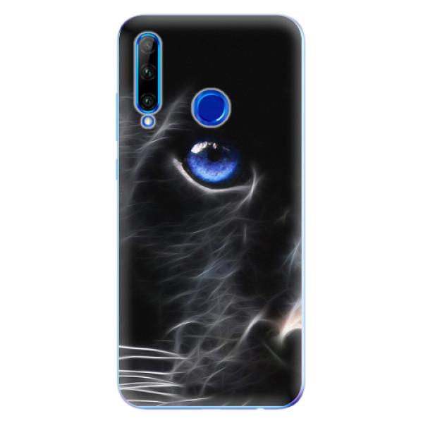 Odolné silikonové pouzdro iSaprio - Black Puma - Huawei Honor 20 Lite