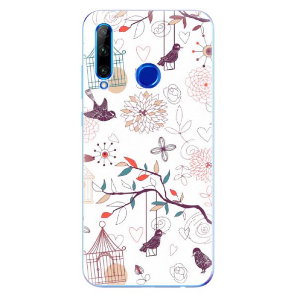 Odolné silikonové pouzdro iSaprio - Birds - Huawei Honor 20 Lite
