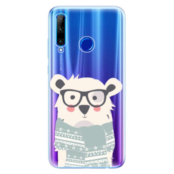 Odolné silikonové pouzdro iSaprio - Bear with Scarf - Huawei Honor 20 Lite