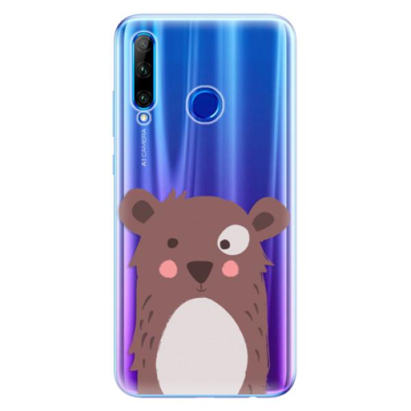 Odolné silikonové pouzdro iSaprio - Brown Bear - Huawei Honor 20 Lite