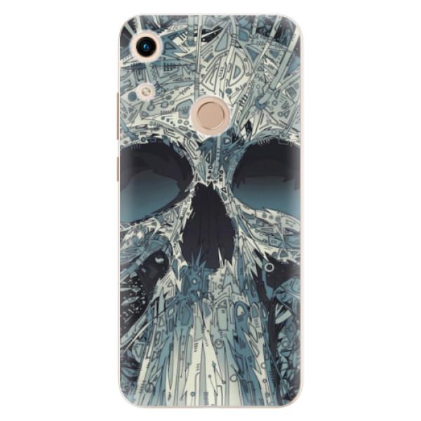 Odolné silikonové pouzdro iSaprio - Abstract Skull - Huawei Honor 8A