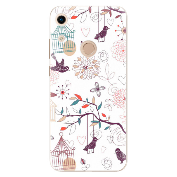 Odolné silikonové pouzdro iSaprio - Birds - Huawei Honor 8A
