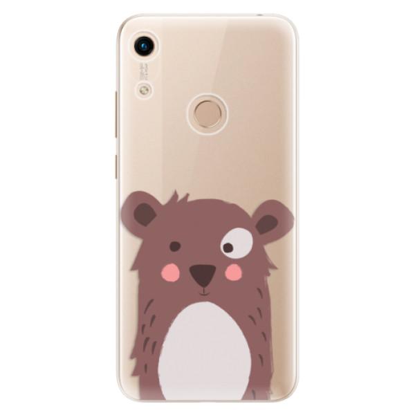 Odolné silikonové pouzdro iSaprio - Brown Bear - Huawei Honor 8A