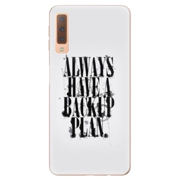 Odolné silikonové pouzdro iSaprio - Backup Plan - Samsung Galaxy A7 (2018)