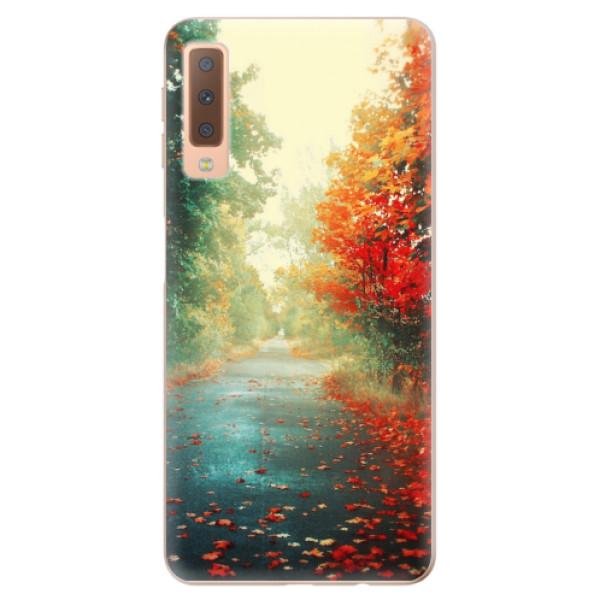 Odolné silikonové pouzdro iSaprio - Autumn 03 - Samsung Galaxy A7 (2018)
