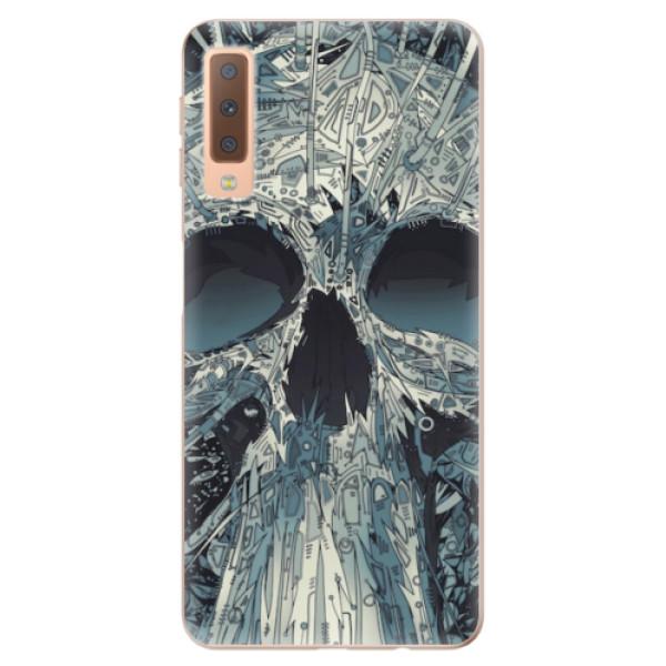 Odolné silikonové pouzdro iSaprio - Abstract Skull - Samsung Galaxy A7 (2018)