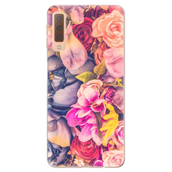 Odolné silikonové pouzdro iSaprio - Beauty Flowers - Samsung Galaxy A7 (2018)