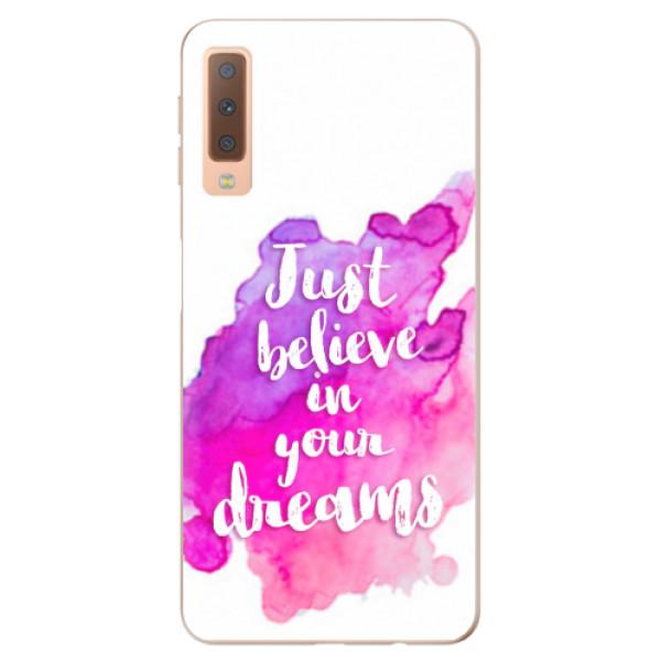 Odolné silikonové pouzdro iSaprio - Believe - Samsung Galaxy A7 (2018)