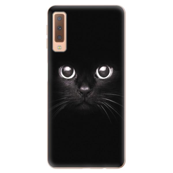 Odolné silikonové pouzdro iSaprio - Black Cat - Samsung Galaxy A7 (2018)