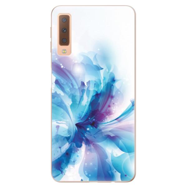 Odolné silikonové pouzdro iSaprio - Abstract Flower - Samsung Galaxy A7 (2018)