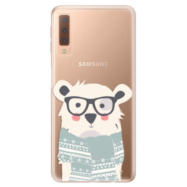 Odolné silikonové pouzdro iSaprio - Bear with Scarf - Samsung Galaxy A7 (2018)