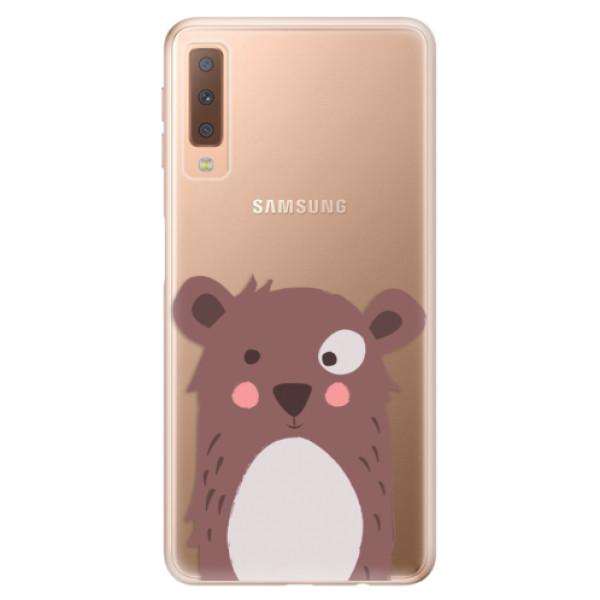 Odolné silikonové pouzdro iSaprio - Brown Bear - Samsung Galaxy A7 (2018)