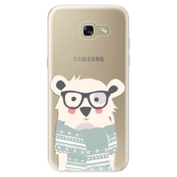 Odolné silikonové pouzdro iSaprio - Bear with Scarf - Samsung Galaxy A5 2017