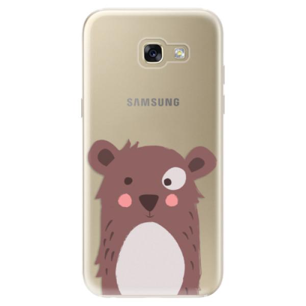 Odolné silikonové pouzdro iSaprio - Brown Bear - Samsung Galaxy A5 2017