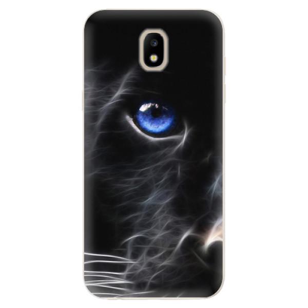 Odolné silikonové pouzdro iSaprio - Black Puma - Samsung Galaxy J5 2017