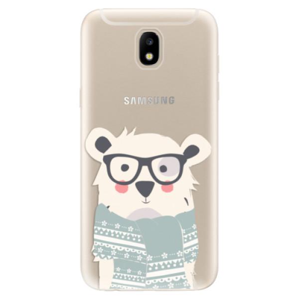 Odolné silikonové pouzdro iSaprio - Bear with Scarf - Samsung Galaxy J5 2017