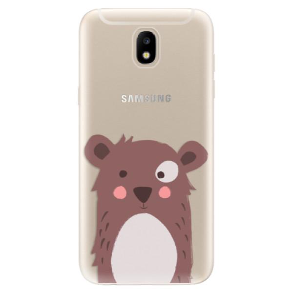 Odolné silikonové pouzdro iSaprio - Brown Bear - Samsung Galaxy J5 2017