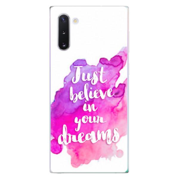 Odolné silikonové pouzdro iSaprio - Believe - Samsung Galaxy Note 10