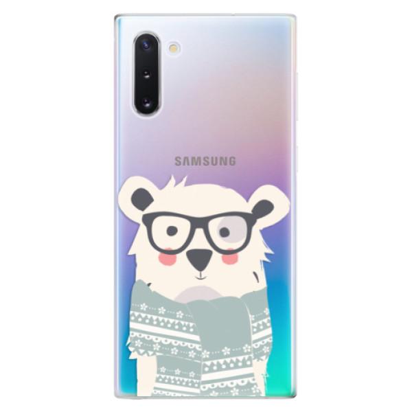 Odolné silikonové pouzdro iSaprio - Bear with Scarf - Samsung Galaxy Note 10