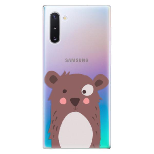 Odolné silikonové pouzdro iSaprio - Brown Bear - Samsung Galaxy Note 10