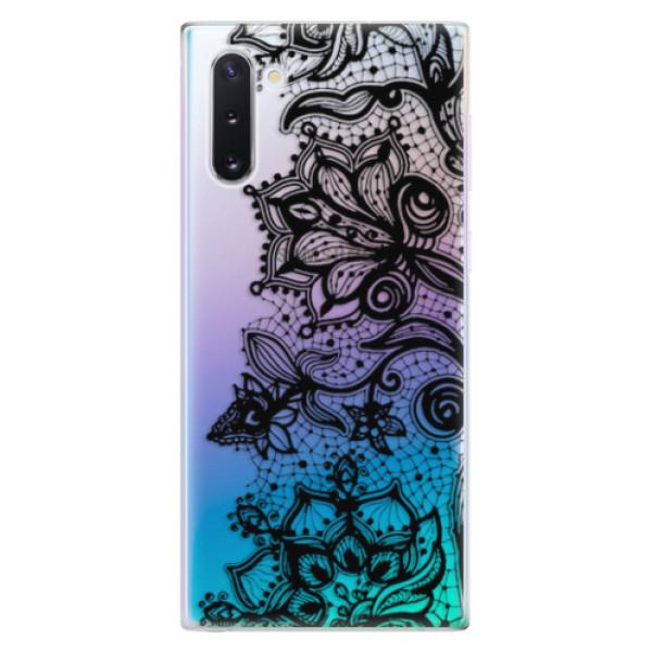 Odolné silikonové pouzdro iSaprio - Black Lace - Samsung Galaxy Note 10