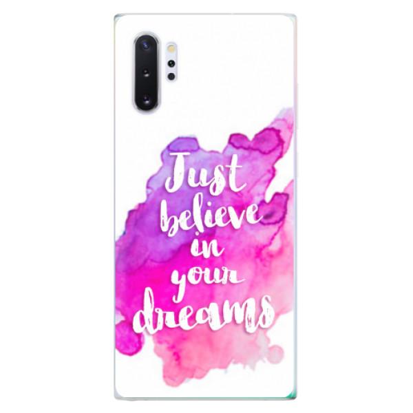 Odolné silikonové pouzdro iSaprio - Believe - Samsung Galaxy Note 10+