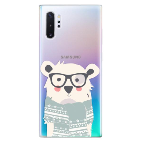 Odolné silikonové pouzdro iSaprio - Bear with Scarf - Samsung Galaxy Note 10+